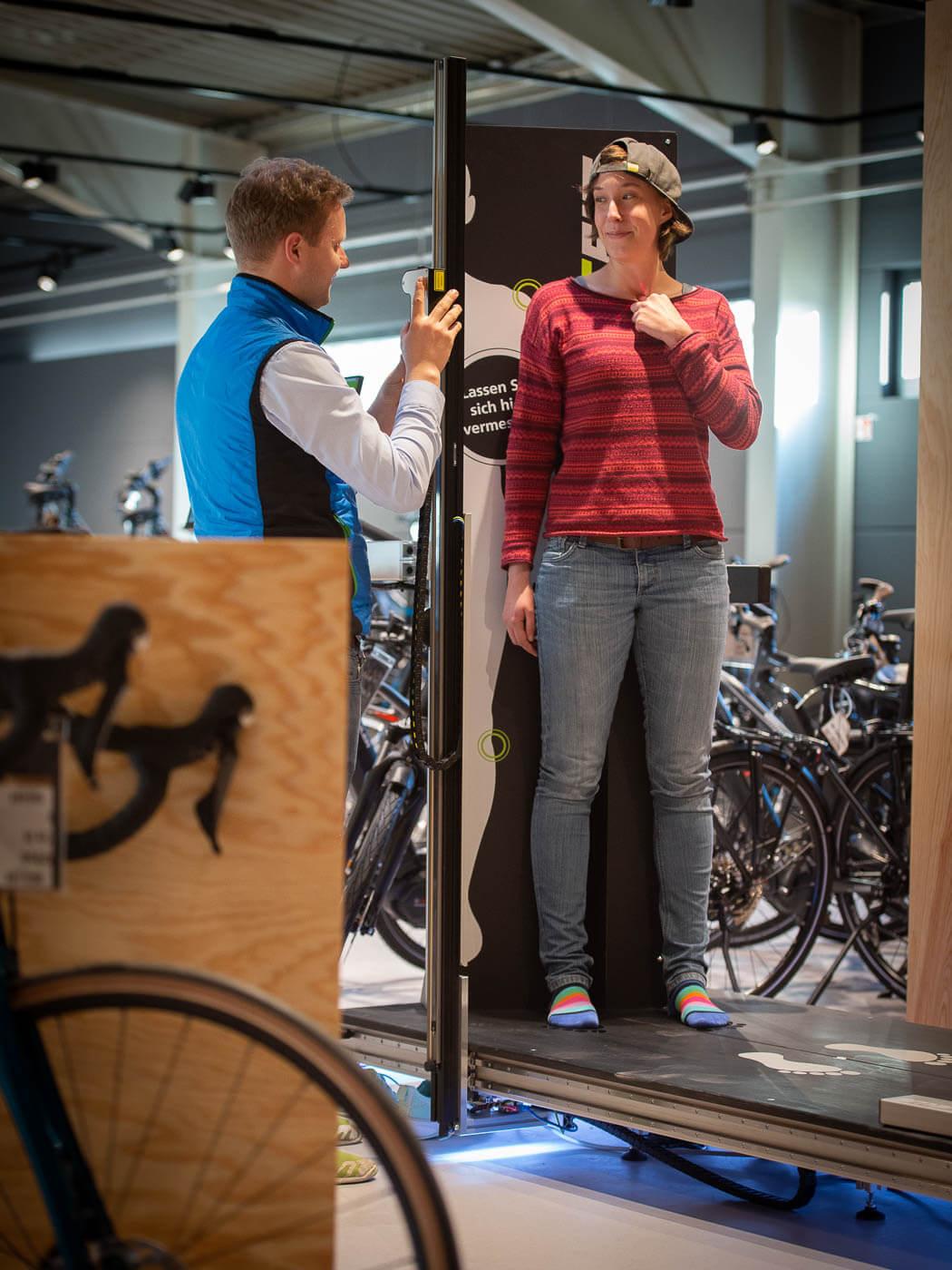 Fahrrad Fitting mit dem Smartfit Laserscanner